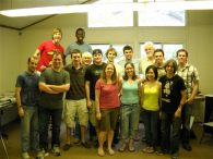 The 2010 composers at the Brevard Music Center Summer Festival in Brevard, North Carolina, with Dr. Robert Aldridge.