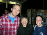 Anne with composer Chen Yi and colleague Daniel Knaggs at the 2007 New Music and Arts Festival at Bowling Green State University.