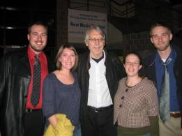 Anne with guest composer John Harbison and fellow Bowling Green students during the 2008 New Music and Arts Festival.