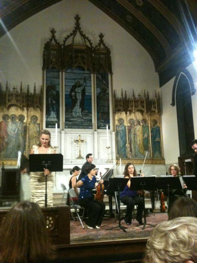 "Silvie Jensen and the Momenta Quartet premiere ""Years Later"" in NYC, 2012"